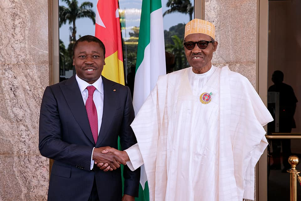 Faure Eyadéma in Nigeria, Discusses Zimbabwe with Buhari