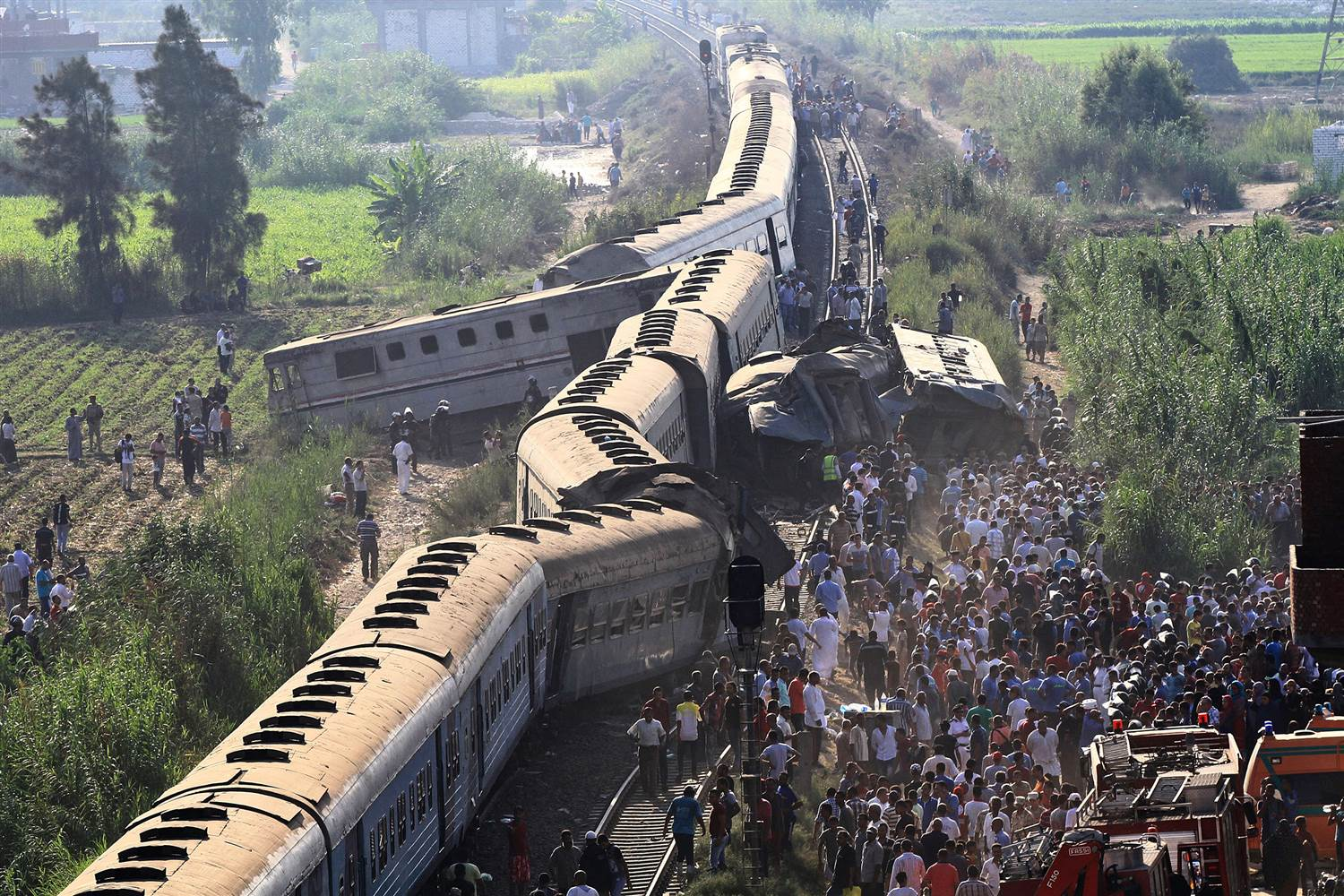 Ten killed, Several wounded in Egypt trains collision