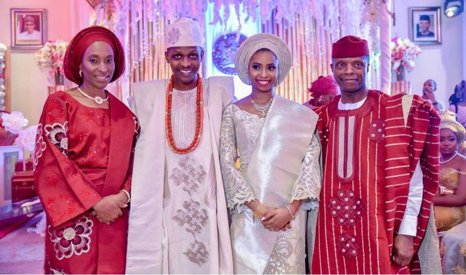 Osinbajos hold private engagement for daughter at Aso Rock