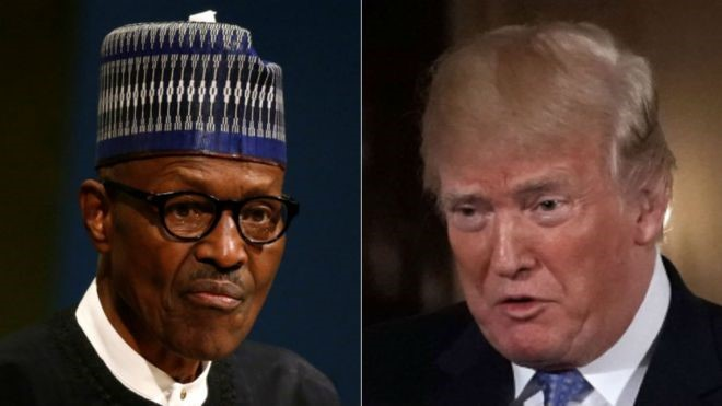 As stage sets for Nigeria's President Buhari to meet Trump in Washington