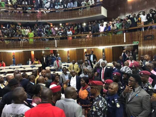 Scuffle among Sierra Leone's new legislators