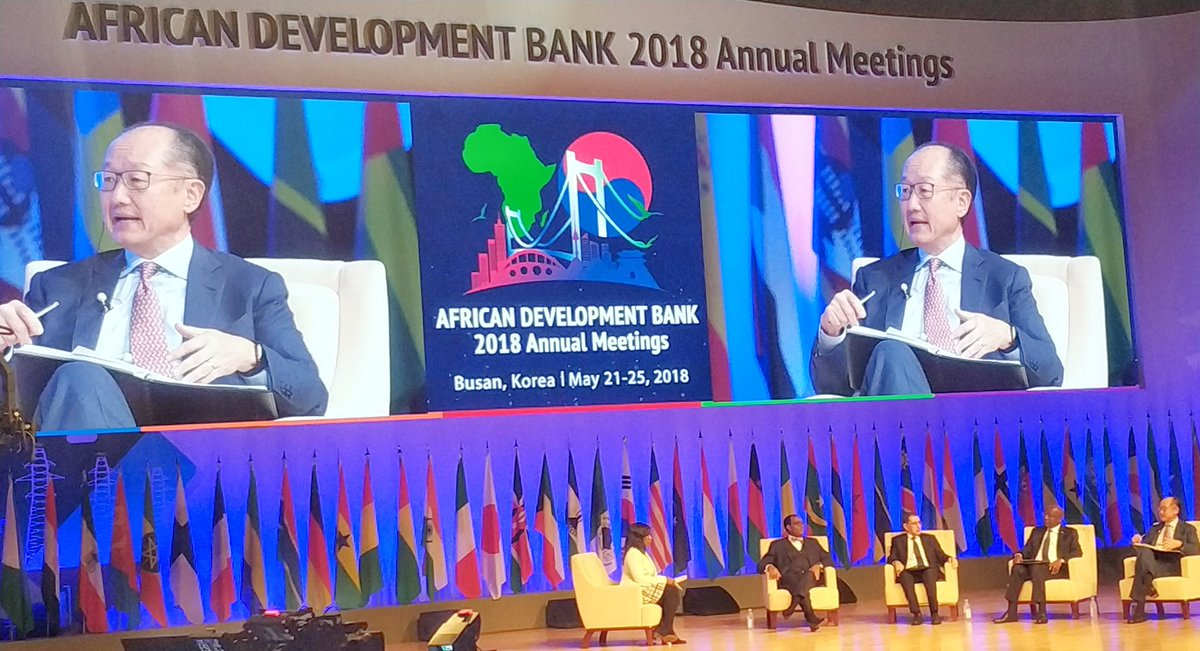 AfDBAM2018: Korea announces $5-billion bilateral financial assistance package for Africa.