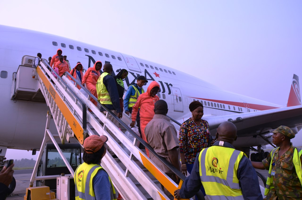 Nigeria receives 165 citizens from Libya