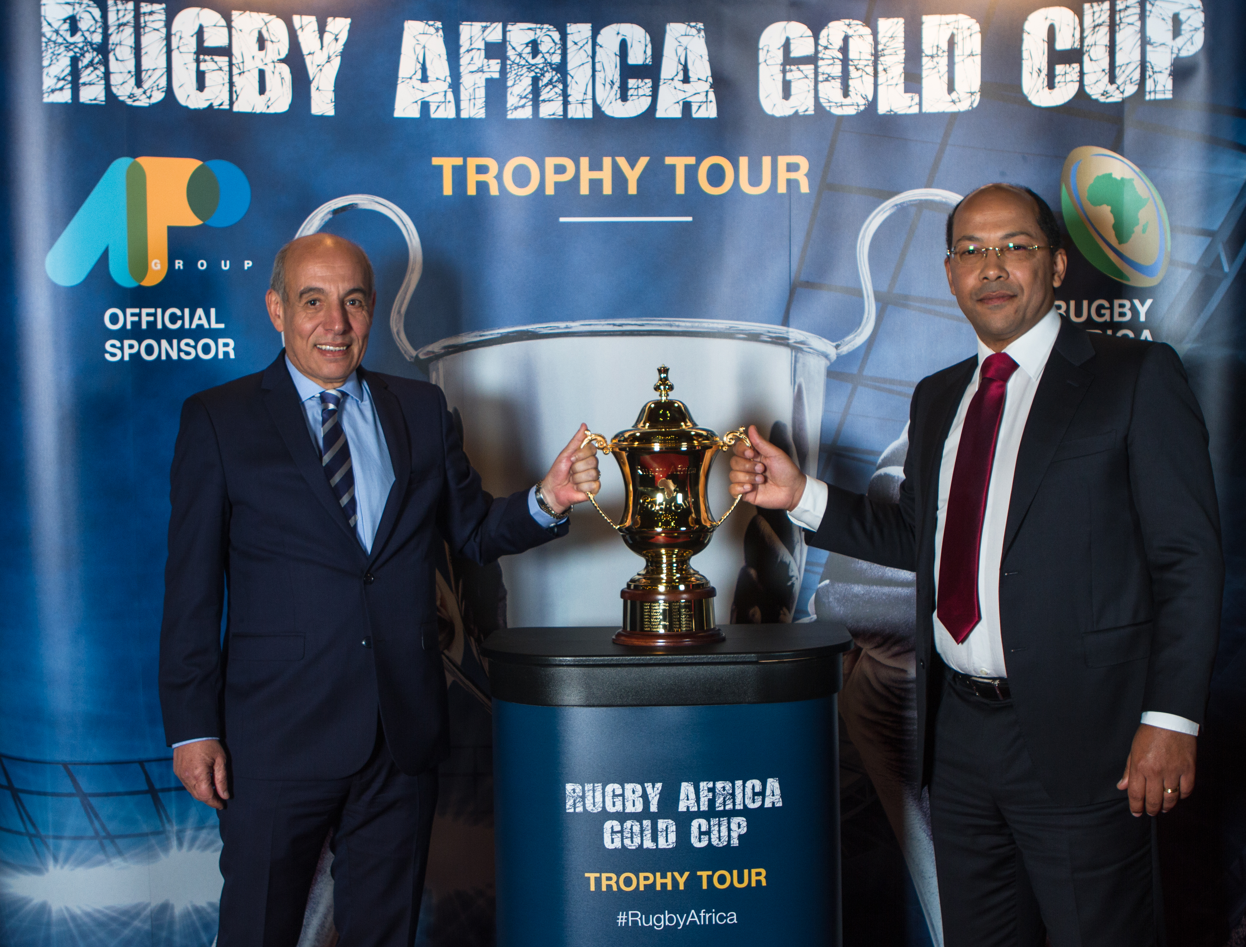New Rugby Africa Gold Cup perpetual trophy unveiled