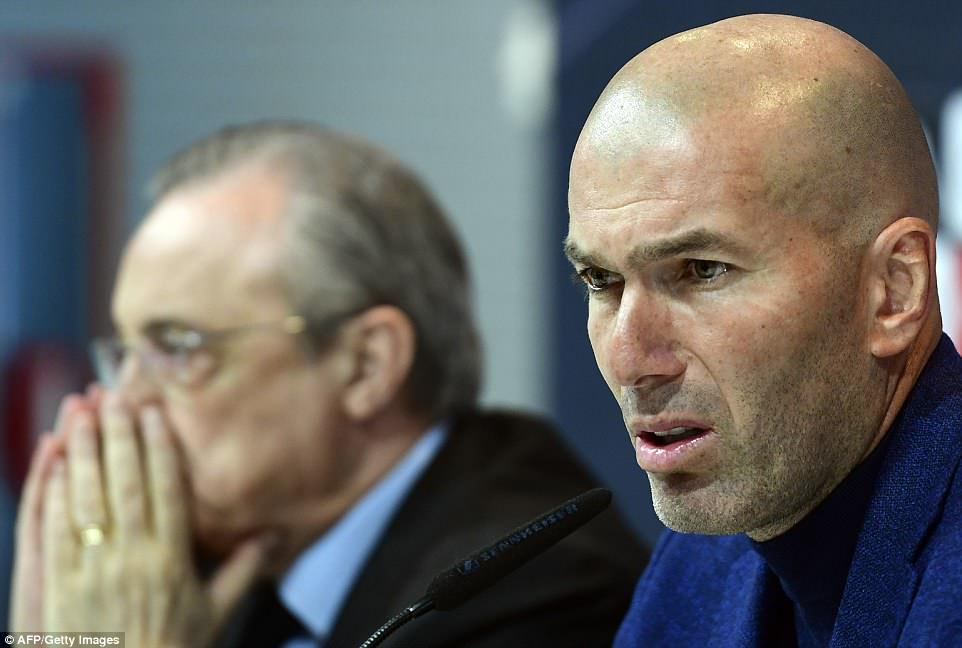 Perez distraught as Zidane leaves Real Madrid