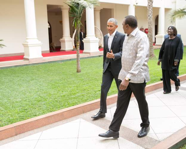 Obama visits 'home' in Kenya after 12 years