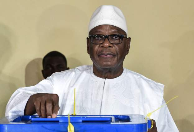 Incumbent Ibrahim Boubacar Keita, @73, re-elected in Mali