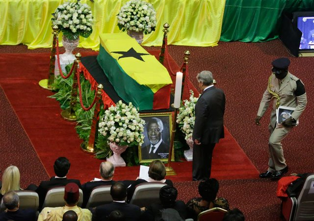 Guterres, others pay tributes as Kofi Annan laid to rest
