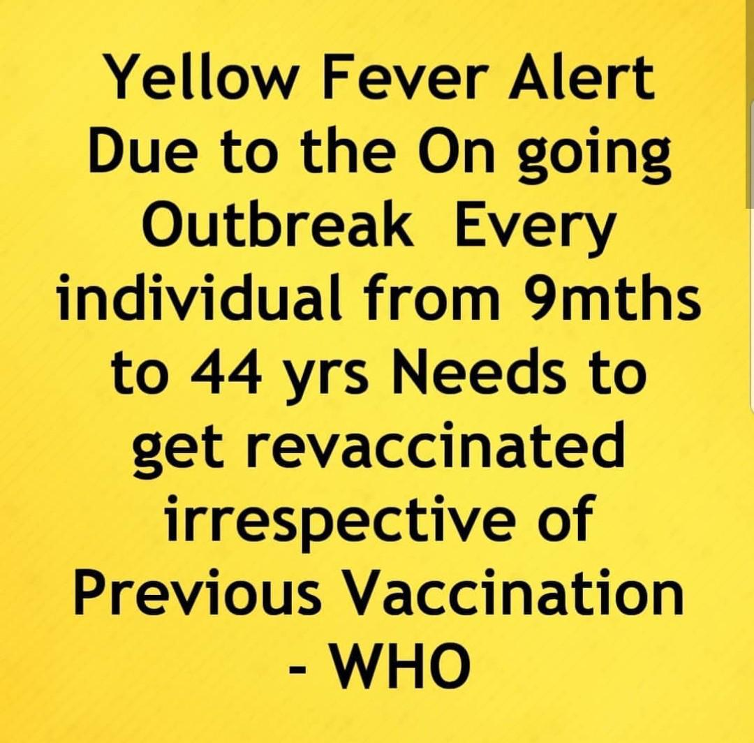 Nigerians on the alert as fear of yellow fever outbreak heightens