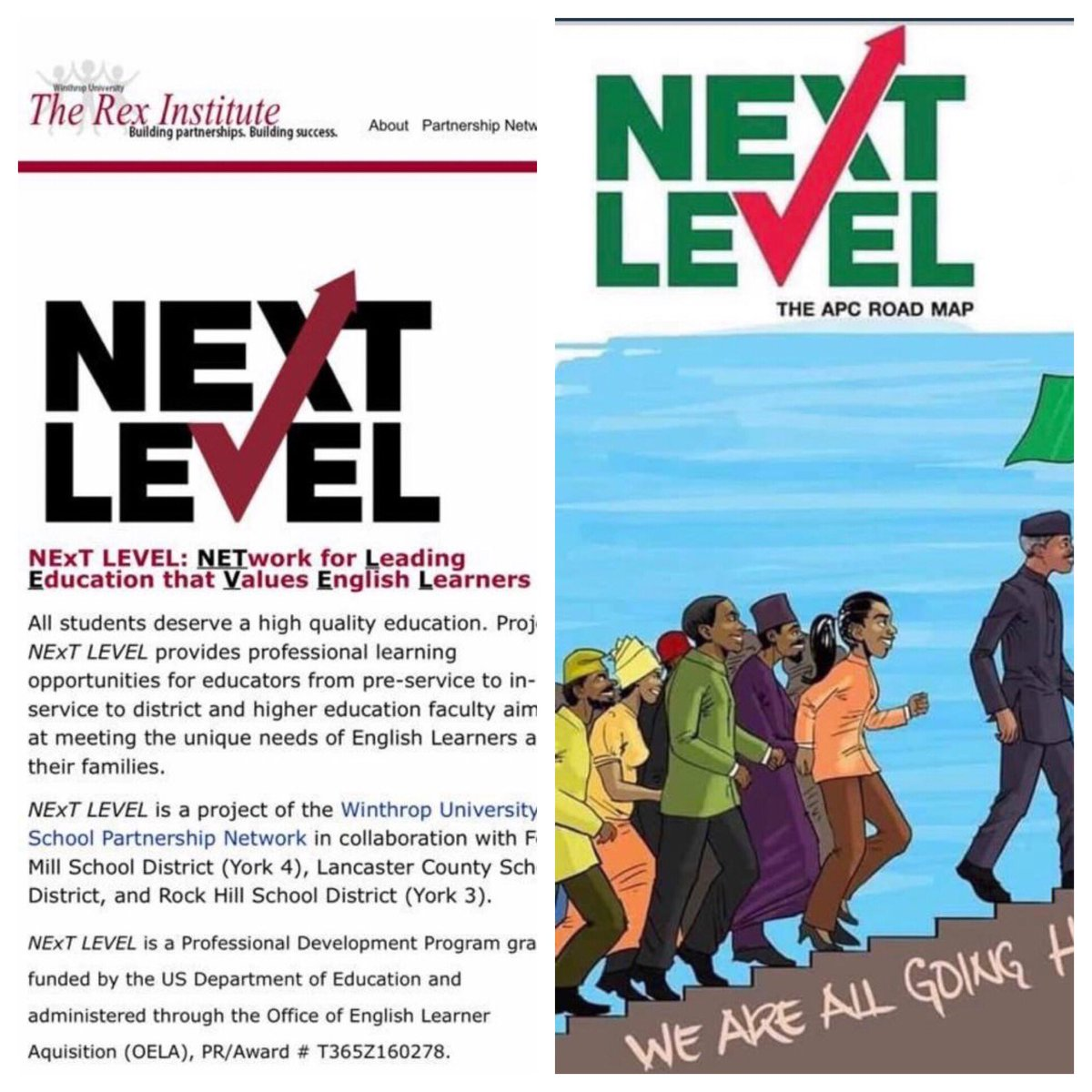 Buhari plagiarized his 'Next Level' slogan and Logo
