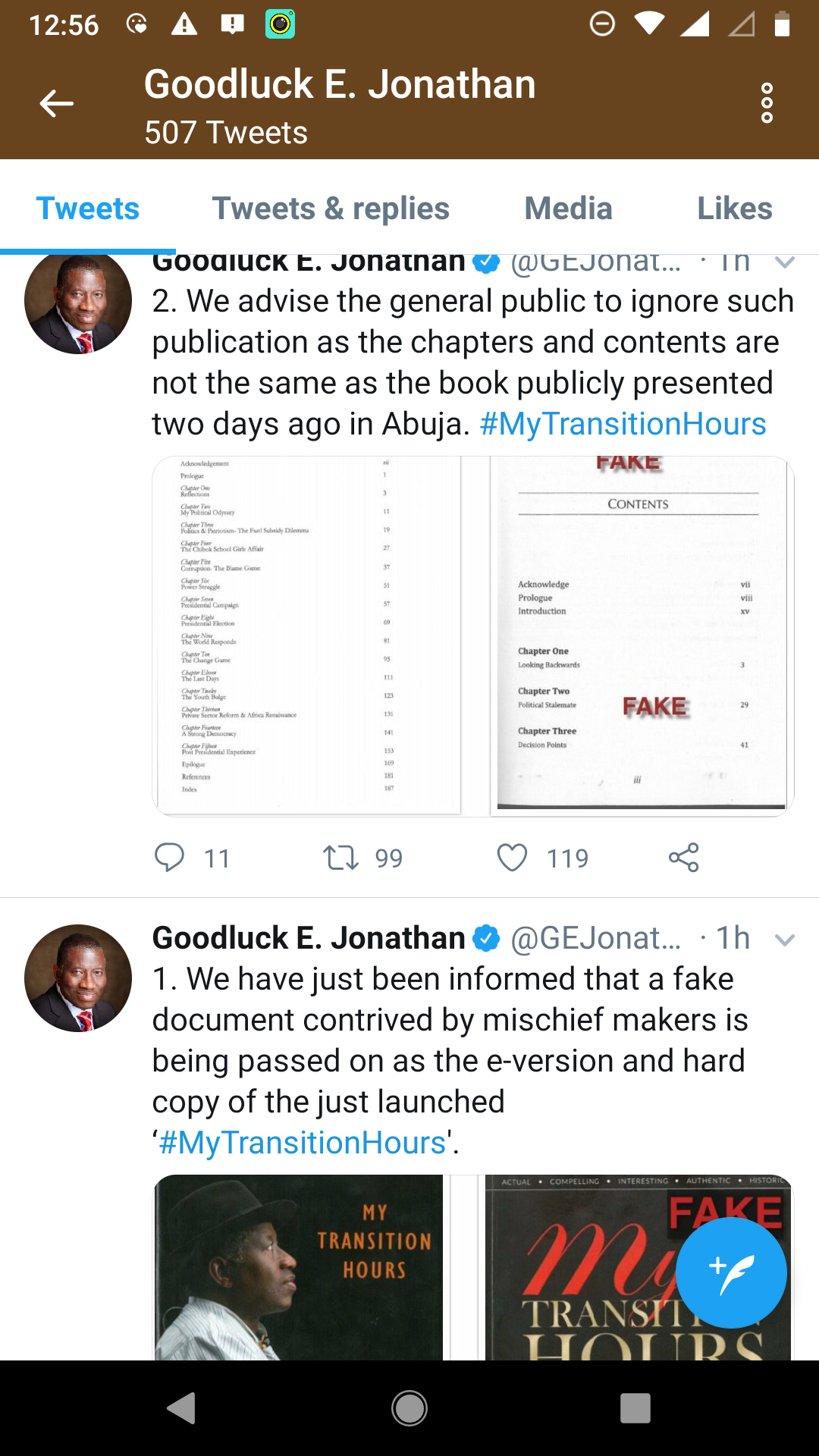 Jonathan says mischief-makers circulating fake version of his new book