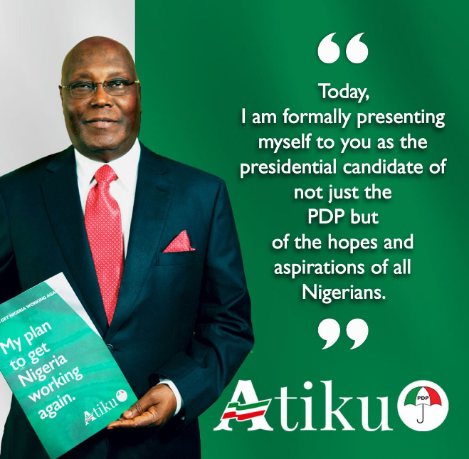 Nigeria's opposition leader, Atiku, focuses on Economy as his campaign begins