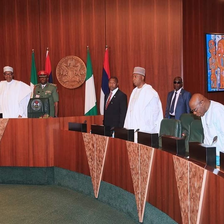 What did Obasanjo say in his opening payer at Council of State Meeting on Tuesday?