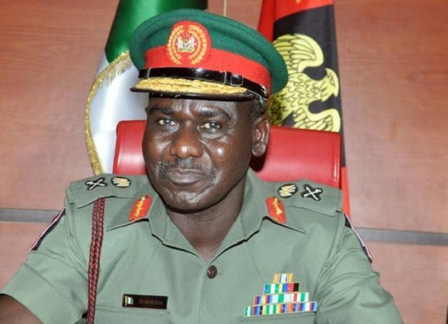 Nigeria's army chief reveals there's apathy in hierarchy