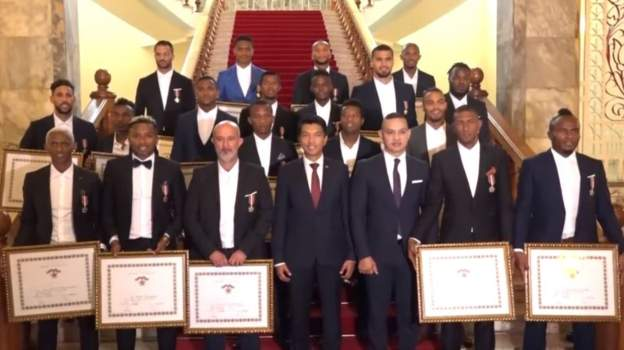Afcon: Madagascar team receive national honours
