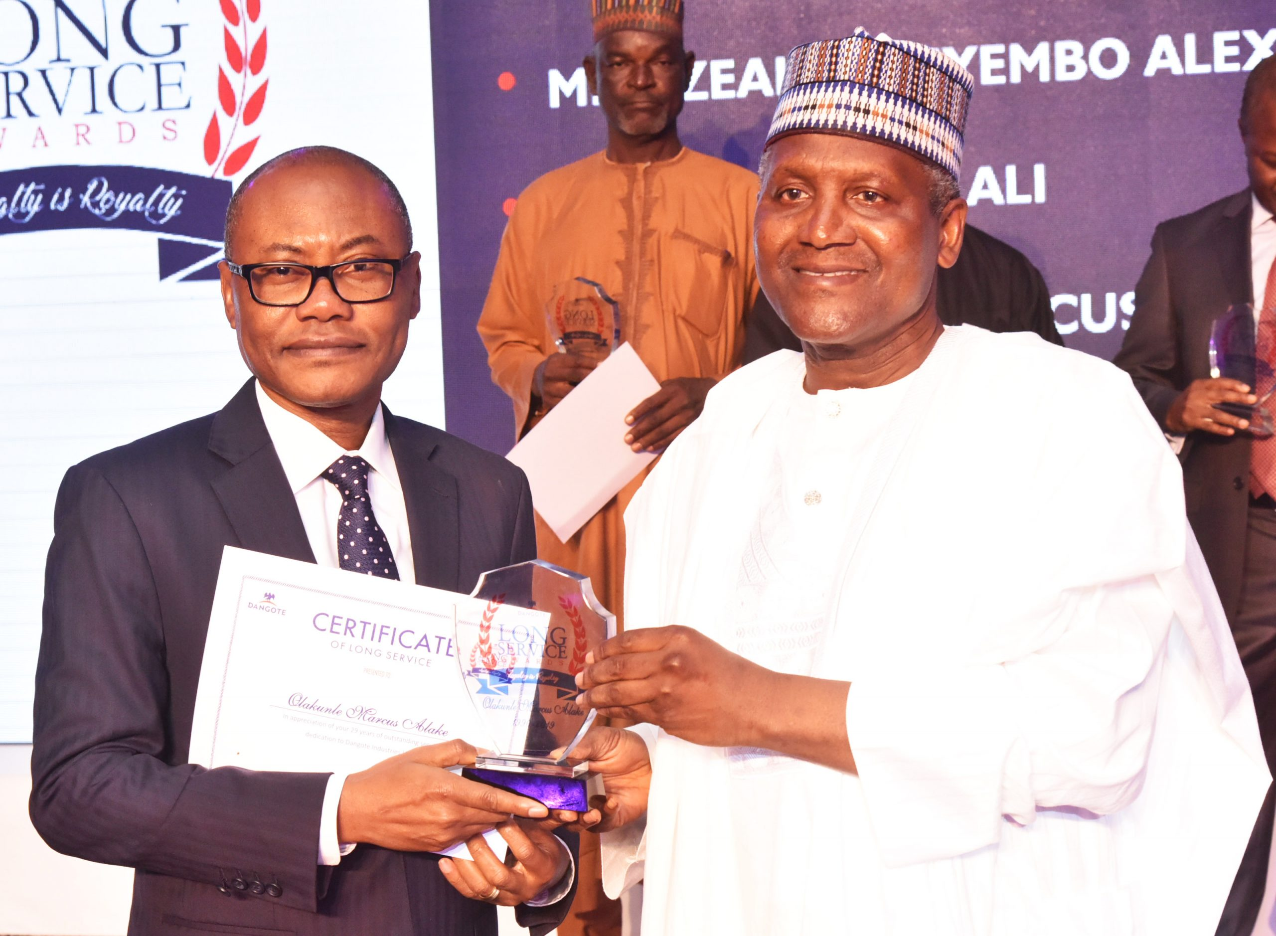 Dangote honors Alake, 159 Other Staff at Long Service Award Ceremony