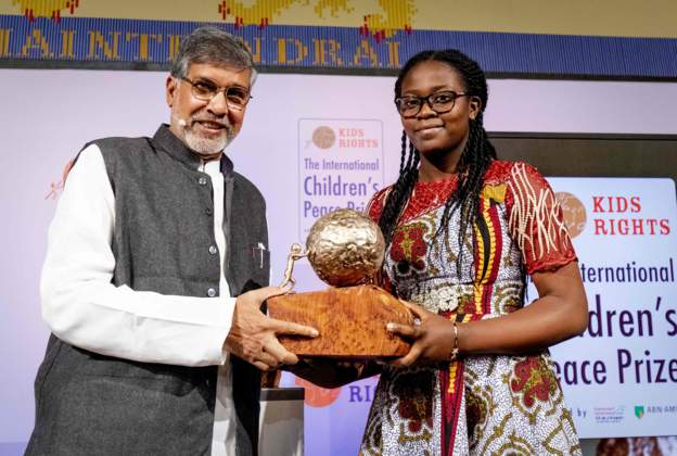 15-year-old Cameroonian, Maloum, wins international peace prize