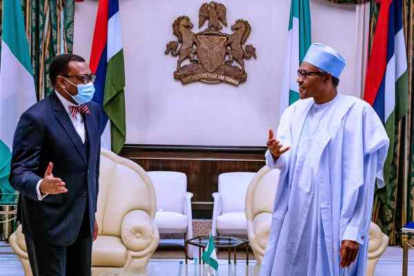 Buhari throws absolute weight behind Adesina's re-election in AfDB