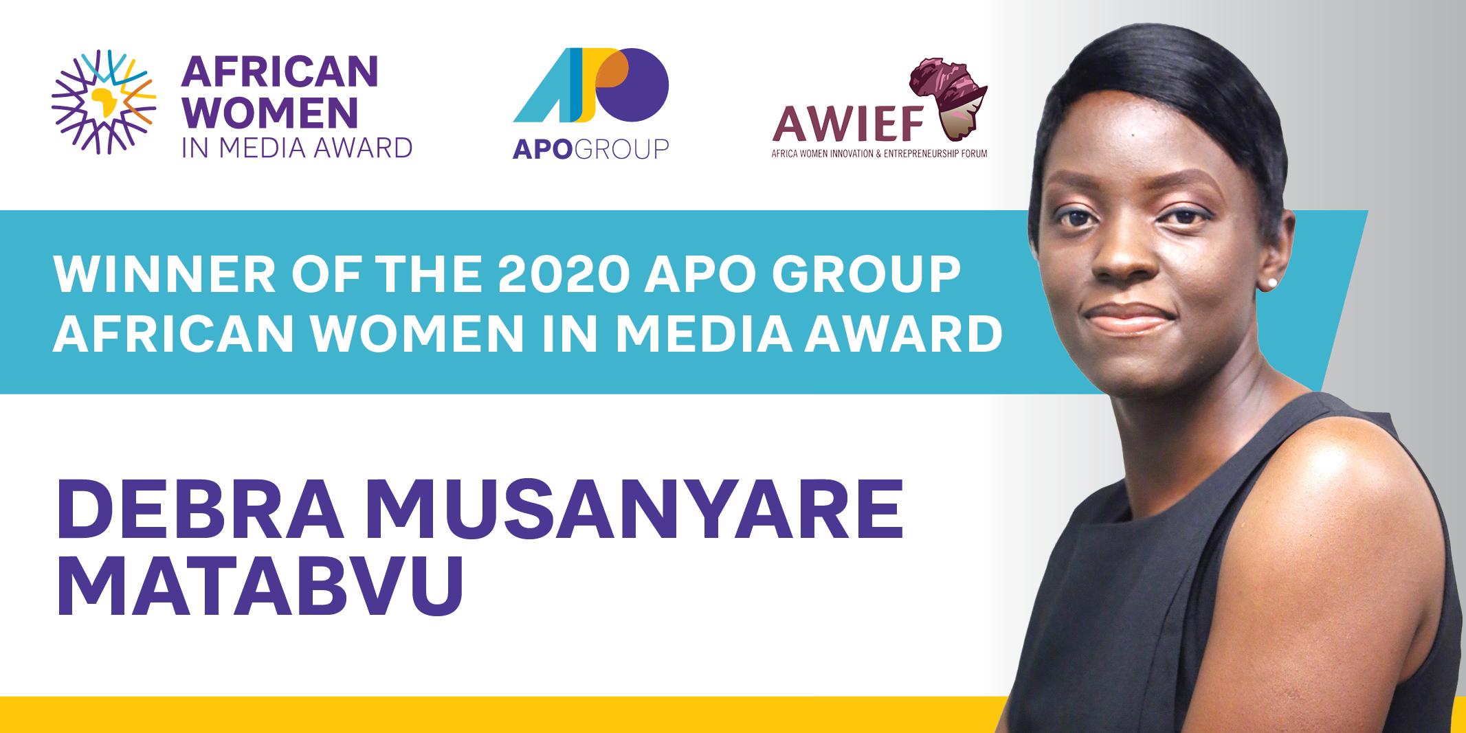 Zimbabwean, Debra Matabvu wins 2020 APO African Women in Media Award