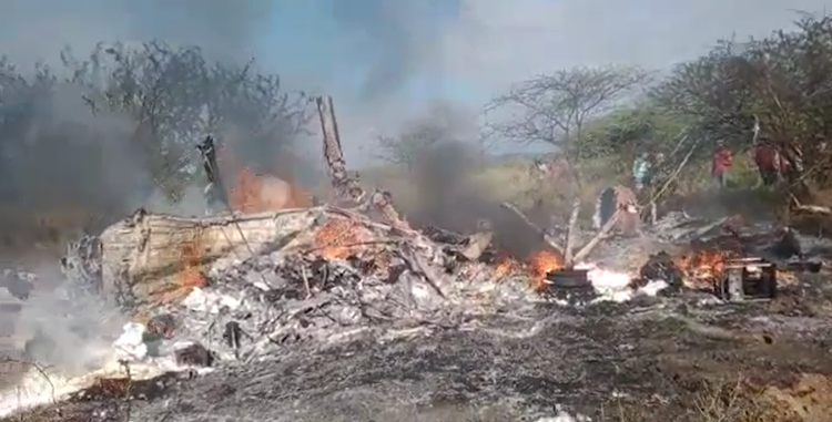 Kenya's Military Helicopter crashes, 23 Soldiers feared dead