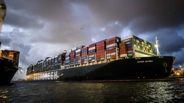 Ever Given finally docks at Dutch Port with over 18,000 containers