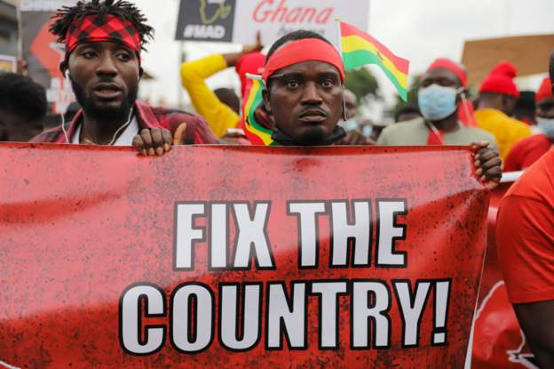 Fix the Country Campaign gains momentum as Anti-Government Protesters march in Ghana's capital