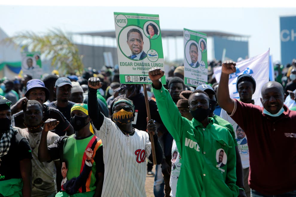 Opposition at offensive as Zambia votes to elect president on Thursday